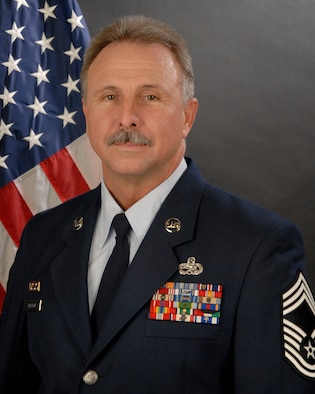 Portrait of Chief Master Sgt. Dennis Burton with the 169th Maintenance Squadron at McEntire Joint National Guard Base, S.C.