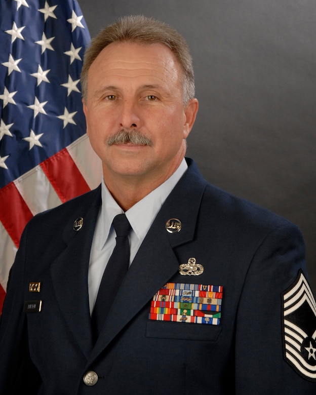 Portrait of Chief Master Sgt. Dennis Burton with the 169th Maintenance Squadron at McEntire Joint National Guard Base, S.C. (SCANG photo by Staff Sgt. Tracci Dorgan/2 Feb. 2010/RELEASED)