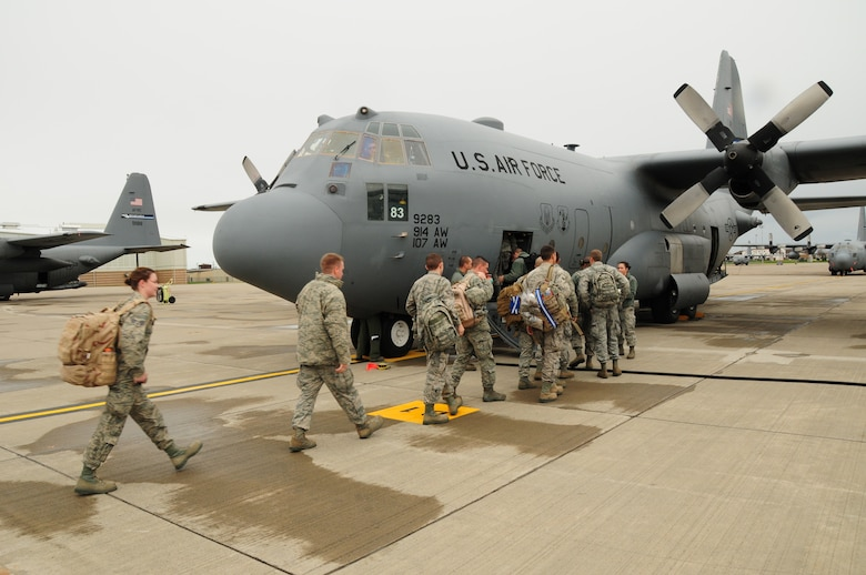 75 members of the 107th Airlift Wing have deployed downstate to aid in Hurricane Sandy recovery efforts. Oct. 30, 2012 (National Guard Photo/Senior Master Sgt. Ray Lloyd)