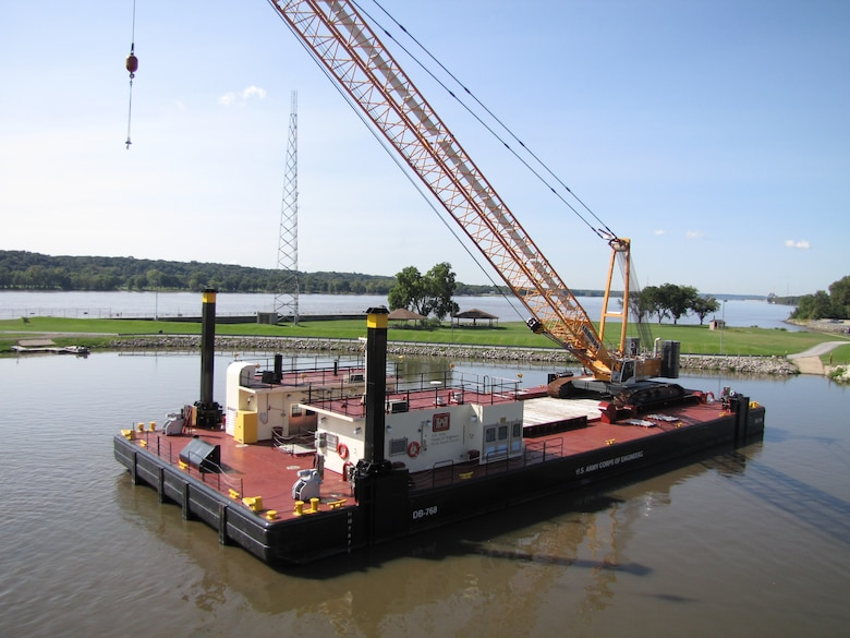 The CRANE BARGE DB-768 was delivered in 2009.