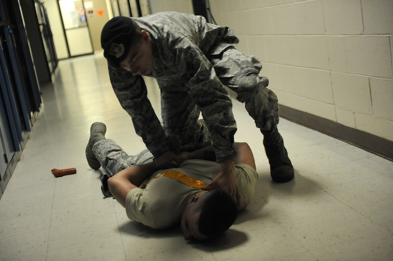 WESTHAMPTON BEACH, NY - On August 04 and 05, 2012, here at Francis S. Gabreski AB, West Hampton, New York, the 106th Security Forces Squadron conducted several active-shooter-response-exercise scenarios.