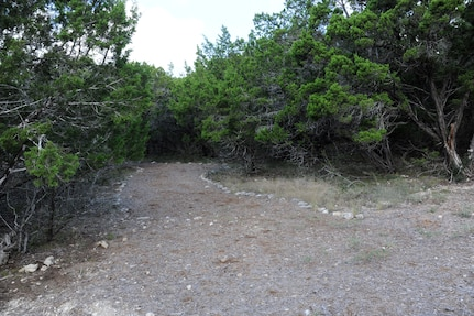 The construction site of the new nature trail located at Joint Base San Antonio Recreation Park at Canyon Lake is shown in this photo. The trail will connect Sunnyside Cove, the Randolph Recreation Park with Hancock Cove, formerly the Ft. Sam Houston Recreation Park. (U.S. Air Force Photo by Don Lindsey)