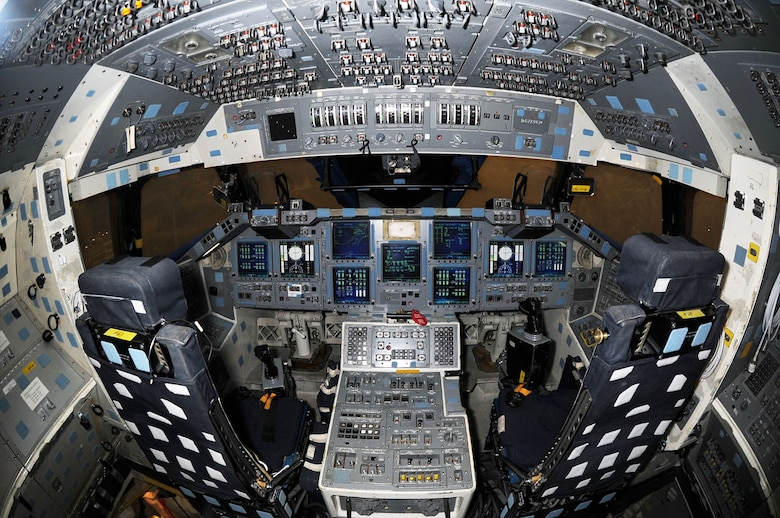 DAYTON, Ohio -- Flight deck of the Crew Compartment Trainer (CCT-1) at the National Museum of the U.S. Air Force. (U.S. Air Force photo by Jeff Fisher)