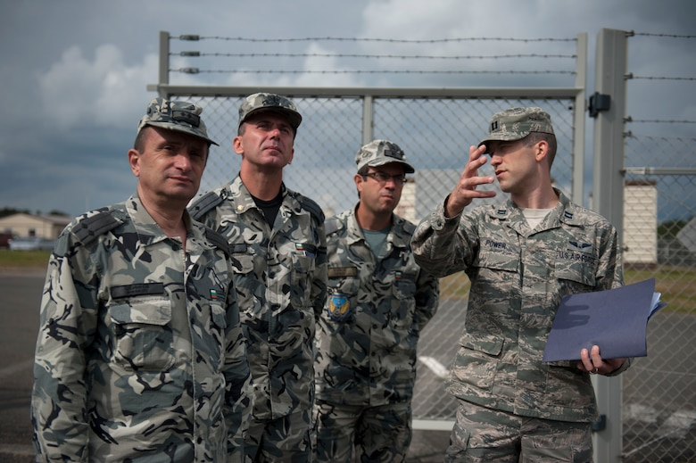 SPANGDAHLEM AIR BASE, Germany – Members of the Bulgarian air force observe 606th Air Control Squadron radar operations during a base visit Sept. 12 here.  The tour serves as a way for the United States and Bulgaria to learn and exchange ideas about each other's air force to ensure air dominance in any contingency operation. (U.S. Air Force photo by Airman 1st Class Gustavo Castillo/Released)