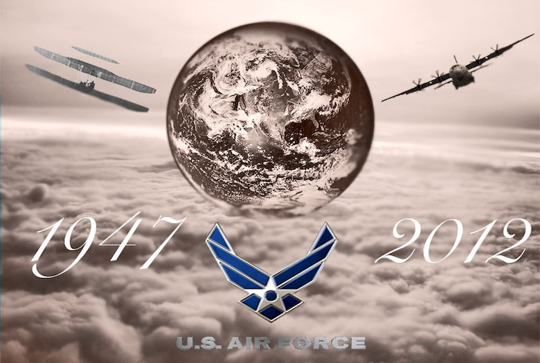 Air Force 65th Birthday. (U.S. Air Force graphic by Master Sgt. Michael Voss)