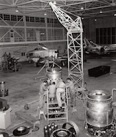 F-86H engine repairs at the 1o4th Fighter Interceptor Squadron, Maryland Air National Guard, November 1958.