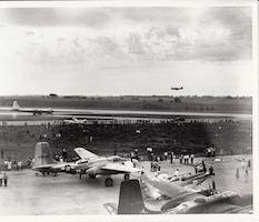 The 124th Fighter Squadron, Iowa Air National Guard, holds an open house, 1948.
