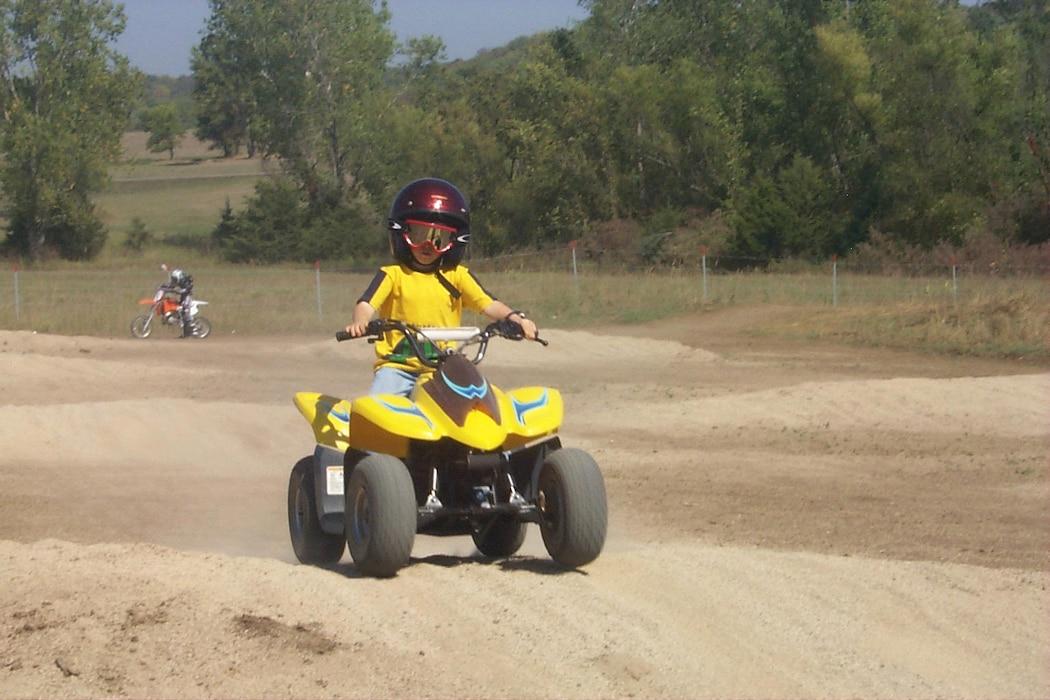 Kid ATV rider