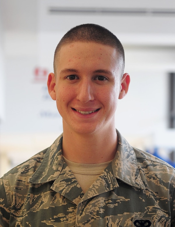 """What does the Oath of Enlistment mean to you? Airman 1st Class Thomas Erskine – 633rd Security Forces Squadron """"It means committing to something greater and you promise to protect your country."""""""