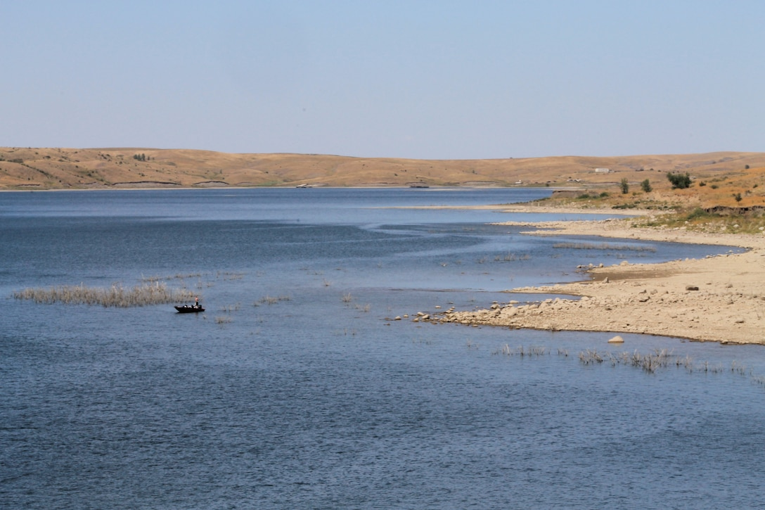 Fishing at Oahe Lake during the 50th Anniversary of the Dam's Dedication held August 17, 2012. Fishing is a popular activity at Oahe Lake near Pierre, S.D.