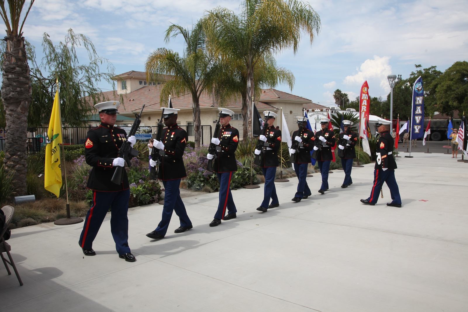 """""""It was a great opportunity to represent the Marine Corps, especially in a 9/11 ceremony,"""" said Williams, commander of the three-volley salute at a 9/11 remembrance ceremony, held at Faith Lutheran Church, Sept. 9."""