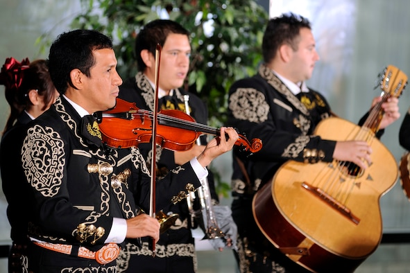 A mariachi band plays at a Hispanic Heritage Month luncheon at the Air Force Academy Sept. 15, 2011. The 2012 Hispanic Heritage Month lucheon is scheduled for noon to 1:30 p.m. Sept. 27 in the Arnold Hall Ballroom. Tickets cost $10 and must be purchased by Sept. 24.