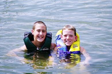 Swimming at the Lake