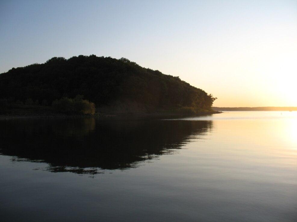 Perry Lake at sunset