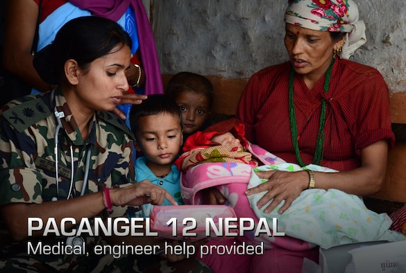 A Nepali woman listens to infant care advice from a Nepalese army doctor two days after her baby was delivered and resuscitated by team Project HOPE and Nepali health care professionals who were supporting Operation Pacific Angel 12-4 at Nau Danda Health Post of Dhikur Pokhari Village Development Committee of Kaski District, Nepal on Sept. 14, 2012. U.S. Pacific Command's Operation Pacific Angel 12-4 in Nepal is a Pacific Air Forces planned event that enhances humanitarian assistance and disaster relief capabilities between the United States and Pacific partners. The U.S. was invited by the Nepal government to provide support by conducting medical, optometry, and civil engineering programs. Operations like Pacific Angel build and sustain relationships with our multinational partners, and non-governmental agencies in the Asia-Pacific region. (Courtesy photo)
