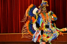 A Native American Dancer performs during the Multi-Cultural Celebration at Camp Pendleton's Pacific Views Event Center, Sept. 18.