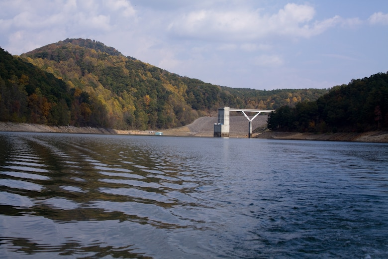 Gathright Dam located in Alleghany County, Va., impounds the water flowing down the Jackson River to create the 2,500 acre Lake Moomaw. The dam has prevented numerous floods over its 30 plus year existence saving countless dollars and lives.