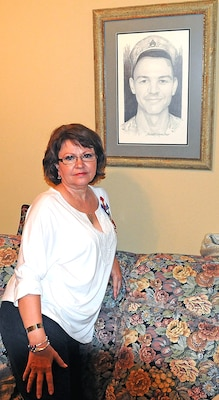 Debbie Agnew lost her son, Staff Sgt. Clinton Newman, when a makeshift bomb detonated near his Humvee Feb. 13, 2006, near Deh Rawod, Afghanistan. Newman was a member of the 321st Civil Affairs Brigade, at Joint Base San Antonio-Fort Sam Houston.