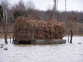 The U.S. Army Corps of Engineers holds its annual duck blind drawing the last Saturday in September each year.  Hunters draw for one of thirty duck blind location on the lake.