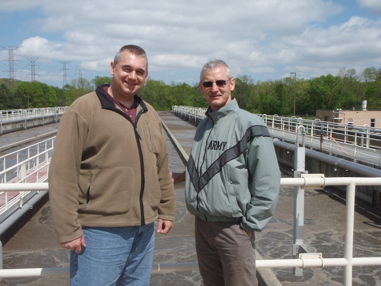 Buffalo District environmental engineer, Steve Vriesen (left), and Buffalo District safety officer, Bill Pioli (right), recently returned  from Chicago where they updated their water delivery and waste water treatment knowledge and expertise.  (April 27, 2012)