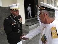 BRAZIL - Maj Bakion, an ET LATAM FAO, meeting a new Braziliam Commander