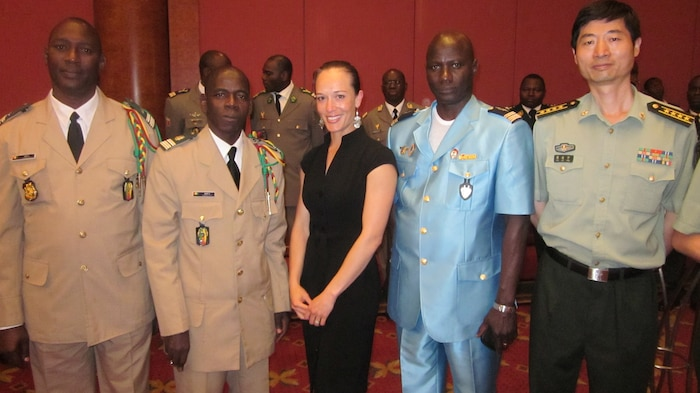 Maj Voyne, China FAO, attends Cameroon War College function in Beijing in place of SDO/DATT, BGen Stillwell, USAF. Senior African officials were deeply impressed with multi-lingual USMC officers.