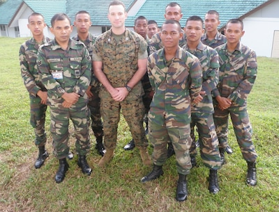 Capt Fretwell participated in Exercise Keris Strike in Melaka, Malaysia. It was a Combined Malaysia and U.S. Peace Support Operations Exercise.