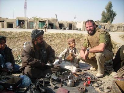 Marine FAO LtCol Carroll in the Nawa Bazaar of Aghanistan