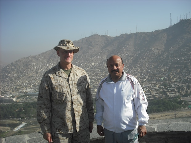 Photo taken by Col Muller on a hike he went on with Mayor Nawandish, the mayor of Kabul City while in Afghanistan.
