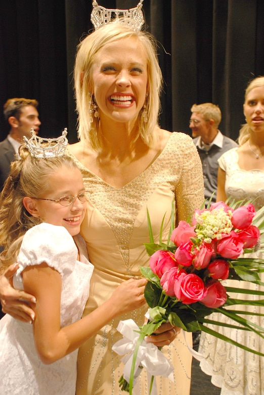 Sgt. Jill Stevens, a member of 1st Battalion, 211th Aviation, Utah National Guard, was crowned Miss Utah Saturday evening, June 30, at the annual pageant held at the Capitol Theatre in Salt Lake City.