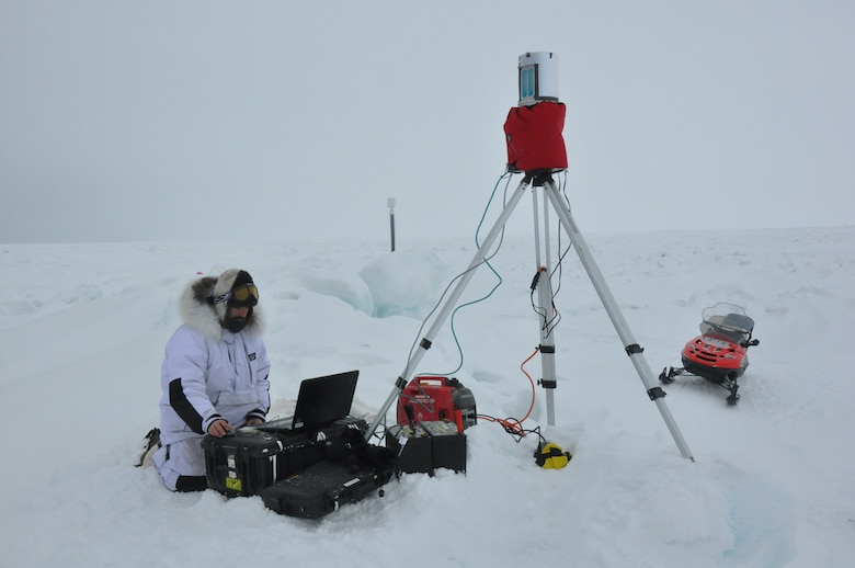 ERDC Cold Regions Research and Engineering Laboratory researchers recently participated in a field experiment surveying sea ice and snow in Barrow, Alaska.