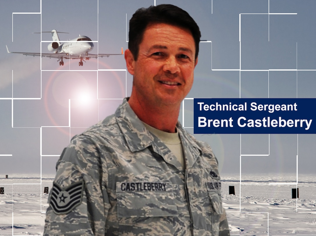 Reservist, Tech Sgt. Brent Castleberry, 1st Aviation Standards Flight, is being hailed as an angel in waiting after he and a co-worker saved two Cessna 421 crewmembers from their burning wreckage at Fort Worth Spinks Airport on September 12, 2012. (Photo illustration by Senior Airman Mark Hybers)