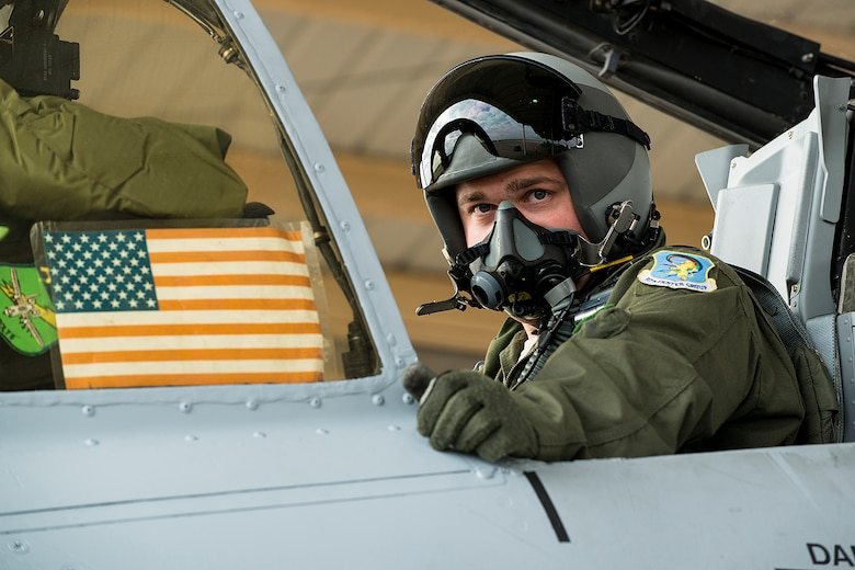 U.S. Air Force Capt. Simon Long, 47th Fighter Squadron pilot, prepares to taxi for a sortie, April 8, 2013, Barksdale Air Force Base, La. The A-10 Thunderbolt II piloted by Long is among the first three selected to permanently leave Barksdale in preparation of the inactivation of the 917th Fighter Group. (U.S. Air Force photo by Master Sgt. Greg Steele/Released)