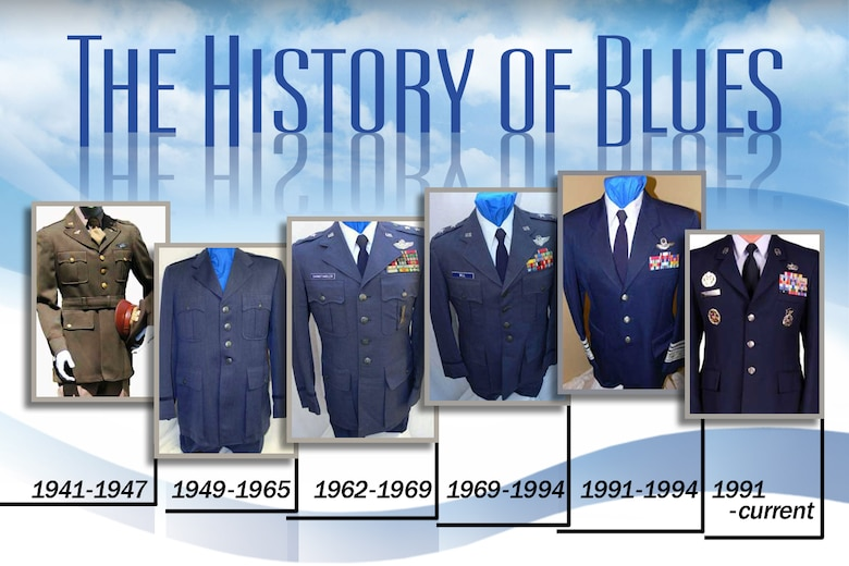 A timeline of the Air Force service-dress uniforms. (U.S. Air Force graphic/Hans Roth)