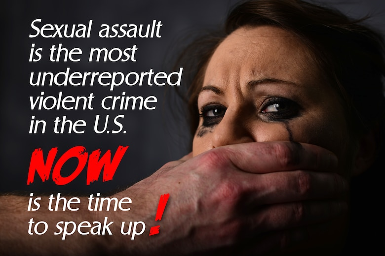 According to the fiscal year 2011 Department of Defense annual report on sexual assault in the military, victim reports per 1,000 Air Force members were at 1.6. The same report states that only 14 percent (about one in six) of the estimated 19,000 victims actually reported their attack. (U.S. Air Force photo illustration/Senior Airman Aaron-Forrest Wainwright)