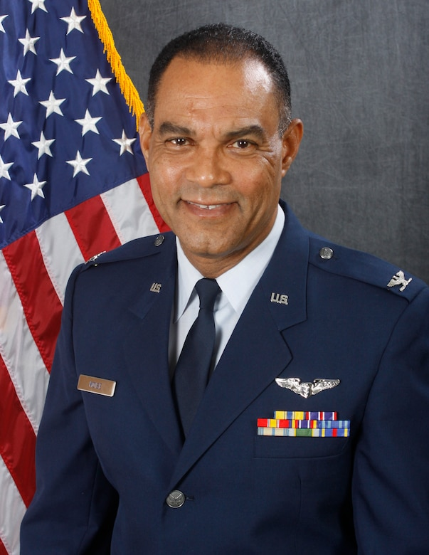 Col. Guy Rudolph Moise retired from the Air Force during a ceremony at Homestead Air Reserve Base, Fla., April 7. (U.S. Air Force photo/Released)