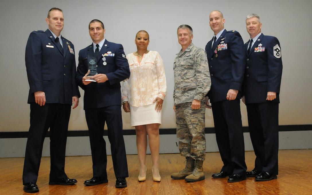 2013 Airman of the Second Quarter, Senior Airman Justin Velez-Hagan, 69th Aerial Port Squadron. (U.S. Air Force photo/Tech. Sgt. Steve Lewis)