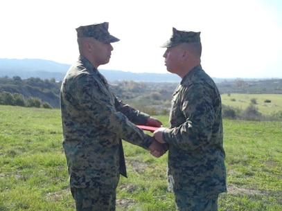 GySgt Bedran Navy and MC Commendation Medal 21 Dec 12