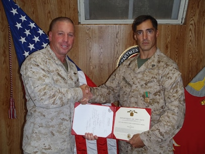 Sgt Medinaperez Navy and MC Achievement Medal 18 Oct 12