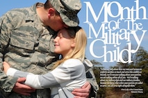 Senior Master Sgt. Kevin Clyatt, 113th Maintenance Group, embraces his daughter, Kira, April 1, 2013, at Joint Base Andrews, Md. (U.S. Air Force photo/illustration by Senior Airman Steele C. G. Britton)