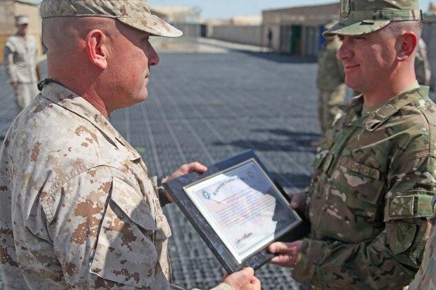 RCT-7 commander commemorates Georgian, Marine partnership