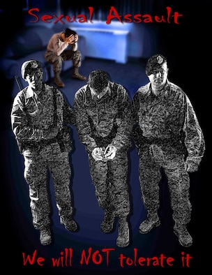 The month of April has been designated Sexual Assault Awareness Month (SAAM). The goal of SAAM is to raise public awareness about sexual violence and to educate individuals on how to prevent sexual violence. (U.S. Air Force photo illustration/SrA. Kelly Galloway)