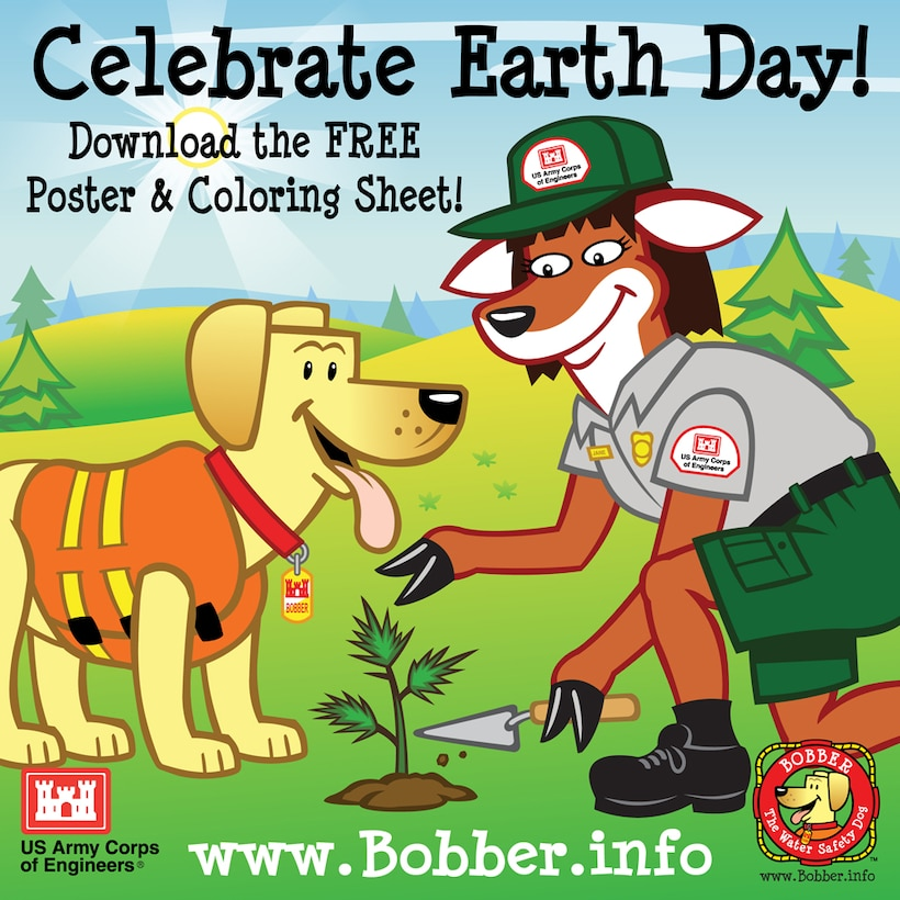 Help Bobber and the Vicksburg District celebrate Earth Day on 22 April 2013.