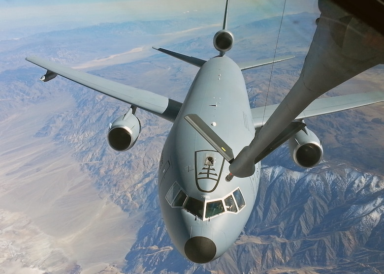 This KC-10 was just one of the many airframes that were used to test the KC-135 Block 45 systems upgrades in order to mitigate capability gaps and improve overall KC-135 shortcomings in reliability, maintainability and supportability. The 418th Flight Test Squadron was just one of 11 units that were involved in the testing that ended April 2013. (Courtesy photo)