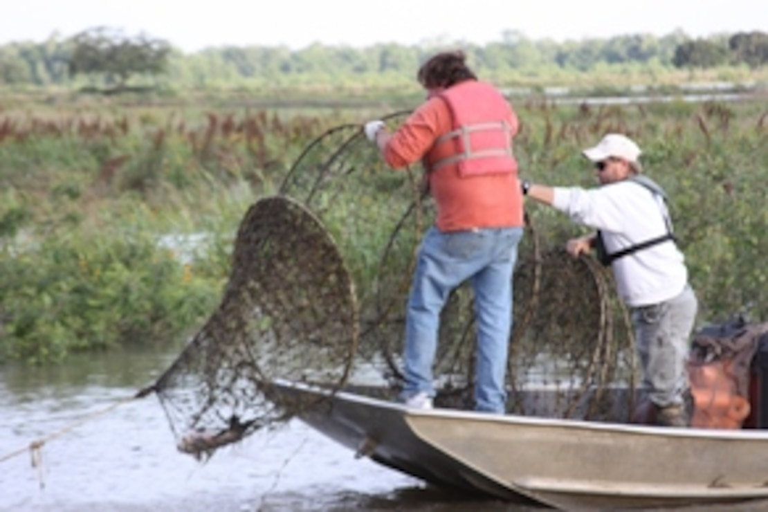 Fishing is one of the many recreational activities the New Orleans District has to offer.