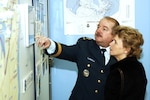 Lt.-Gen. Eric A. Findley, NORAD deputy commander, and his wife, Carla, tour the Canadian NORAD Museum following the museum's opening Feb. 22. Photo by Tech. Sgt. Devin Fisher