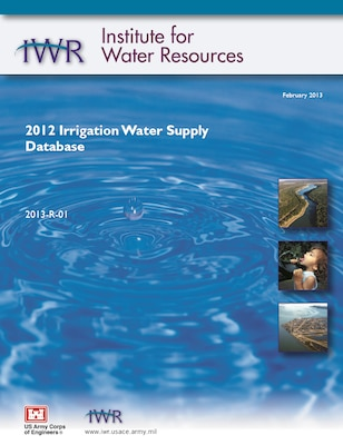2012 Irrigation Water Supply Database Report Cover