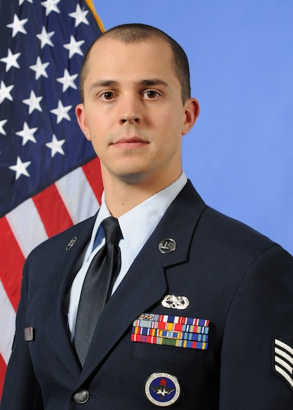 Official photo for Staff Sgt. Jordan Loving, aircraft metals technology instructor at the 361st Training Squadron at Sheppard Air Force Base, Texas.  Loving was named the 2012 AETC Airman Instructor of the Year. (U.S. Air Force photo)