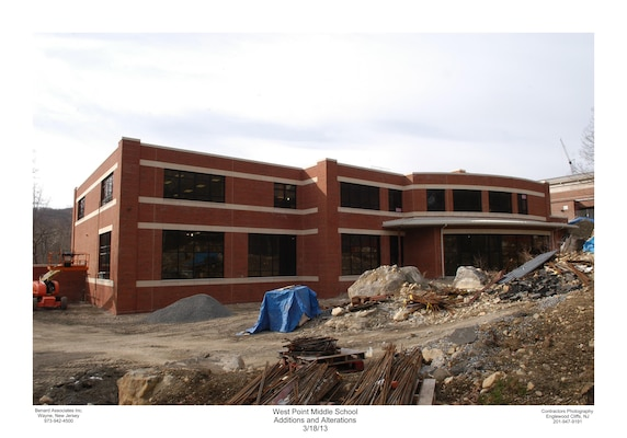 Photograph of the exterior during renovation.