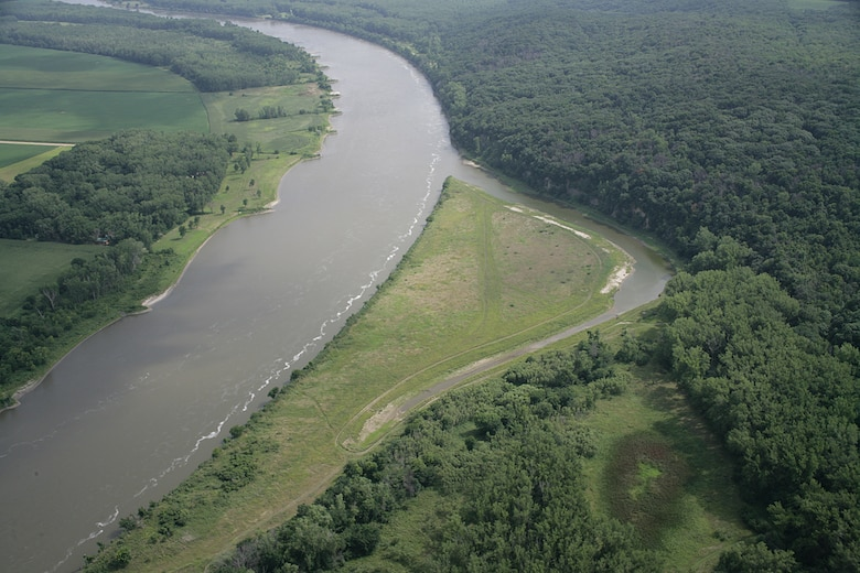 The Hole-in-the-Rock backwater project near river mile 706.0, approximately five miles north of Macy in Thurston County, Neb., is part of the Missouri River Bank Stabilization and Navigation Fish and Wildlife Mitigation Project.